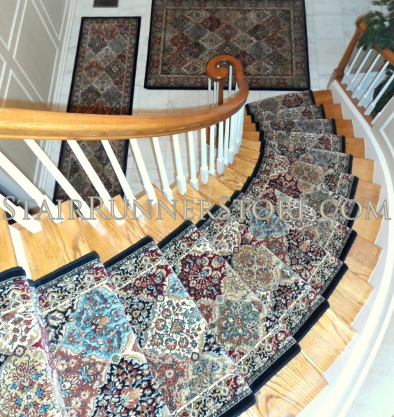 Curved Staircase Stair Runner Installaton • Stair Runner