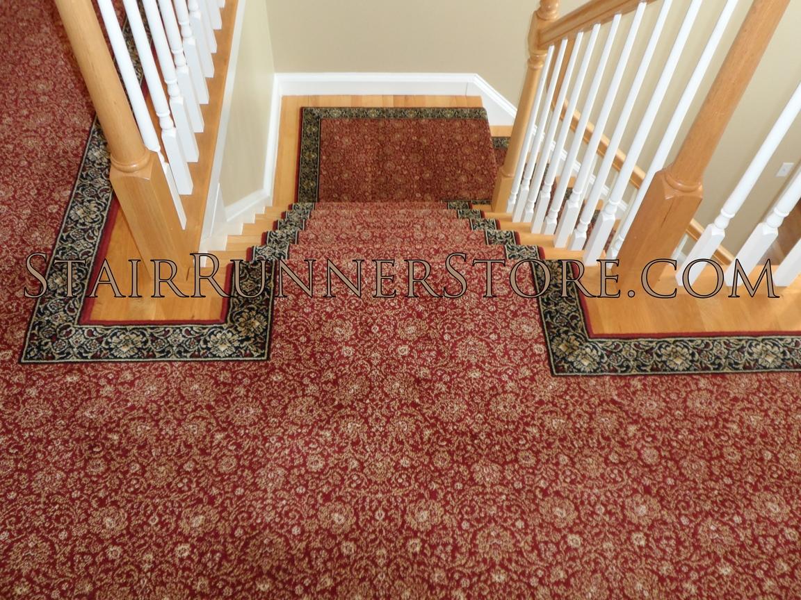 Custom Landing Stair Runner Installation 3267