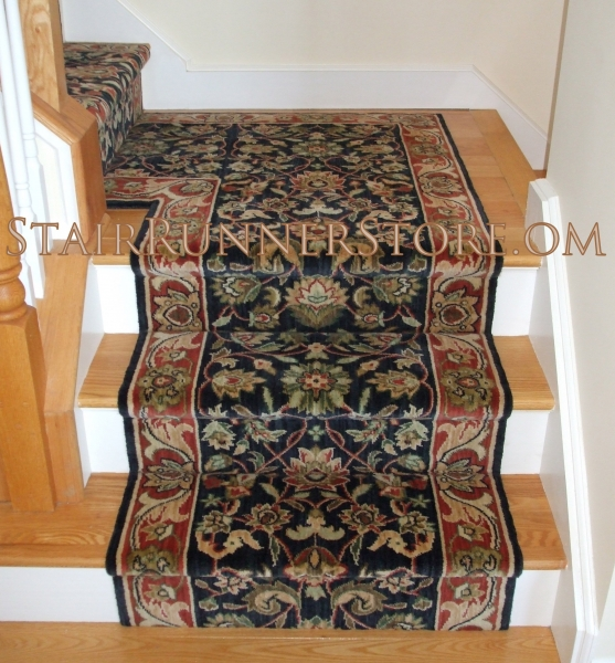 Replacing Carpet With A Stair Runner: Single Landing Stair Runner Installations • Stair Runner