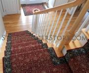 Custom Landing Stair Runner Installation 3266