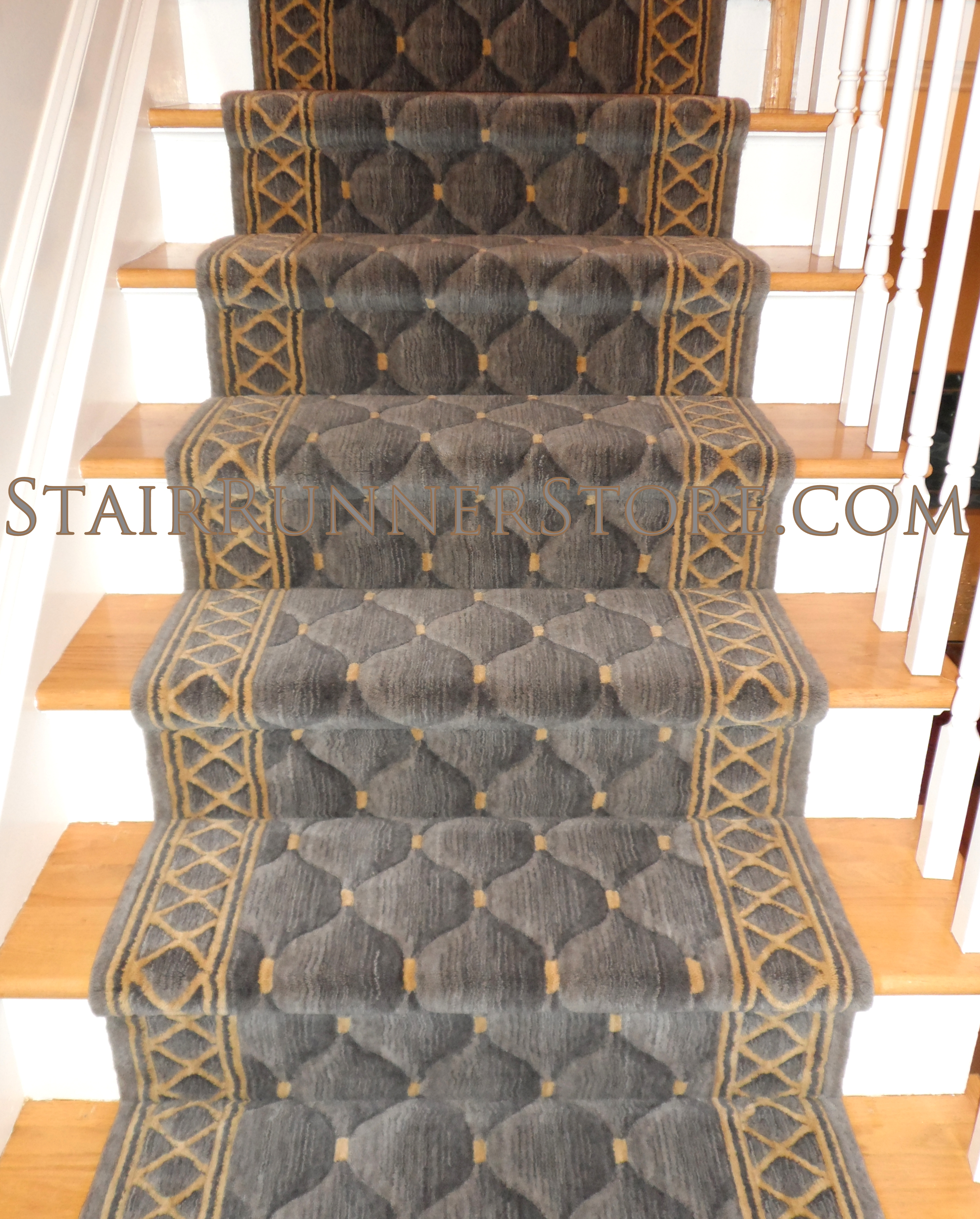 Contemporary Stair Runner Store: Straight Stair Runner Installations • Stair Runner Store Blog