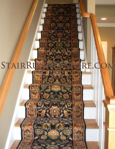 Staright Stair Runner Installation 133