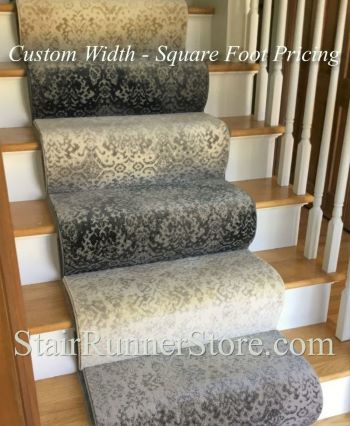 Bastille Custom Width Stair Runner Collection - 6 Colors