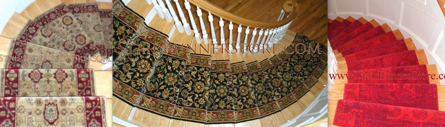 Curved stair runner installations