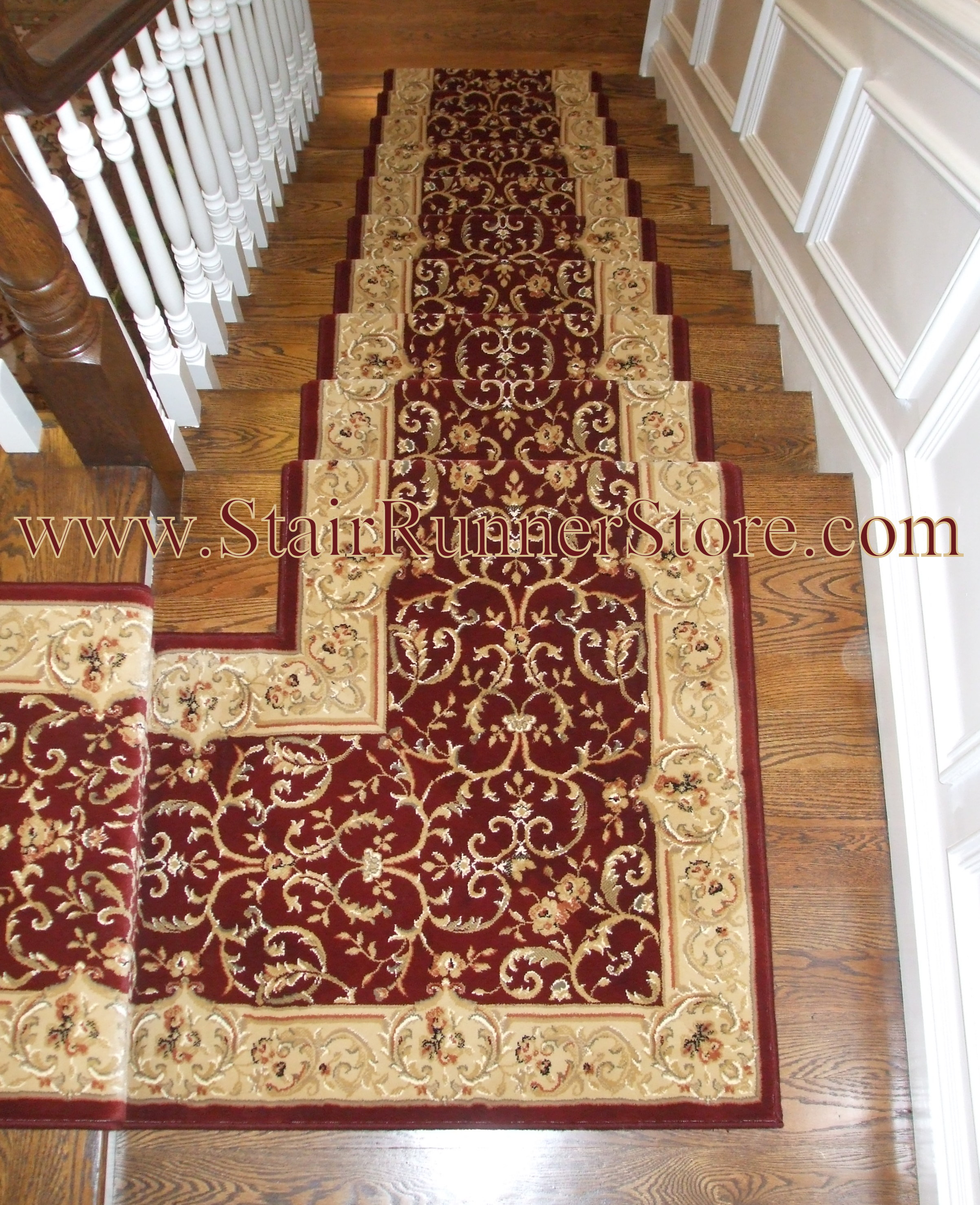 Rug One Oxford Custom Landing Stair Runner Installation