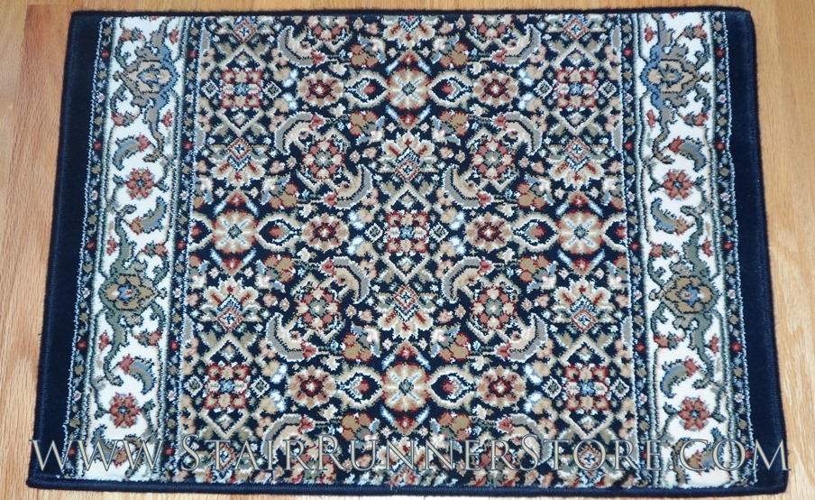 Ancient Garden Stair Runner 57011 Blue 26""