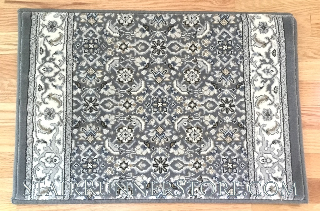 Ancient Garden Stair Runner 57011 Grey-Gream 31""