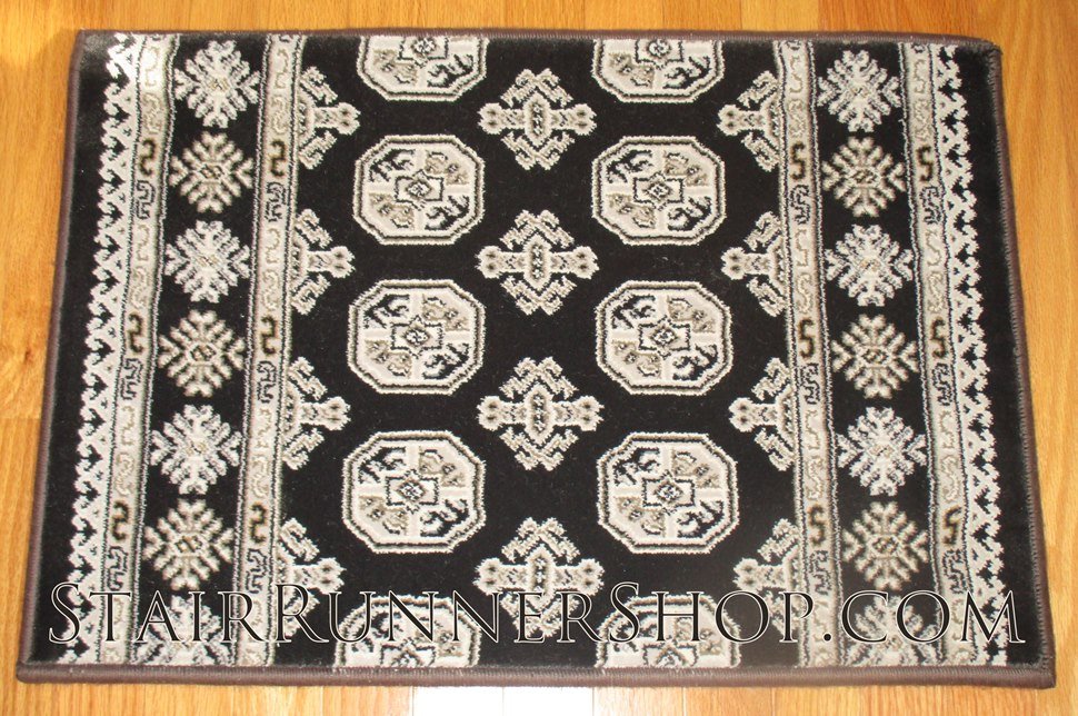 Ancient Garden Stair Runner 57102 Charcoal 26""