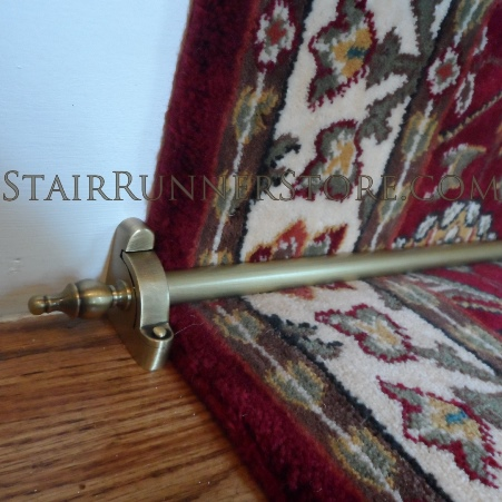 Charmant Antique Brass Finish Hardware Set: Hall Runners | Stair Runners | The Stair  Runner Store
