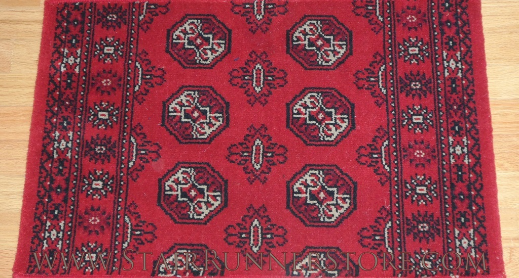 Bocchara Stair Runner Red 45002 27""