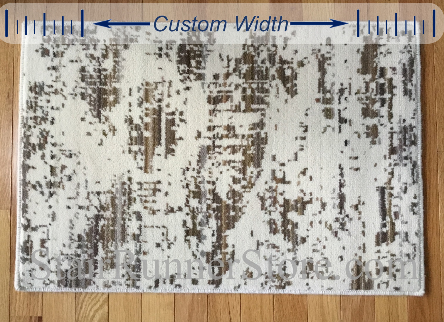 Diffused Custom Width Runner - Taupe