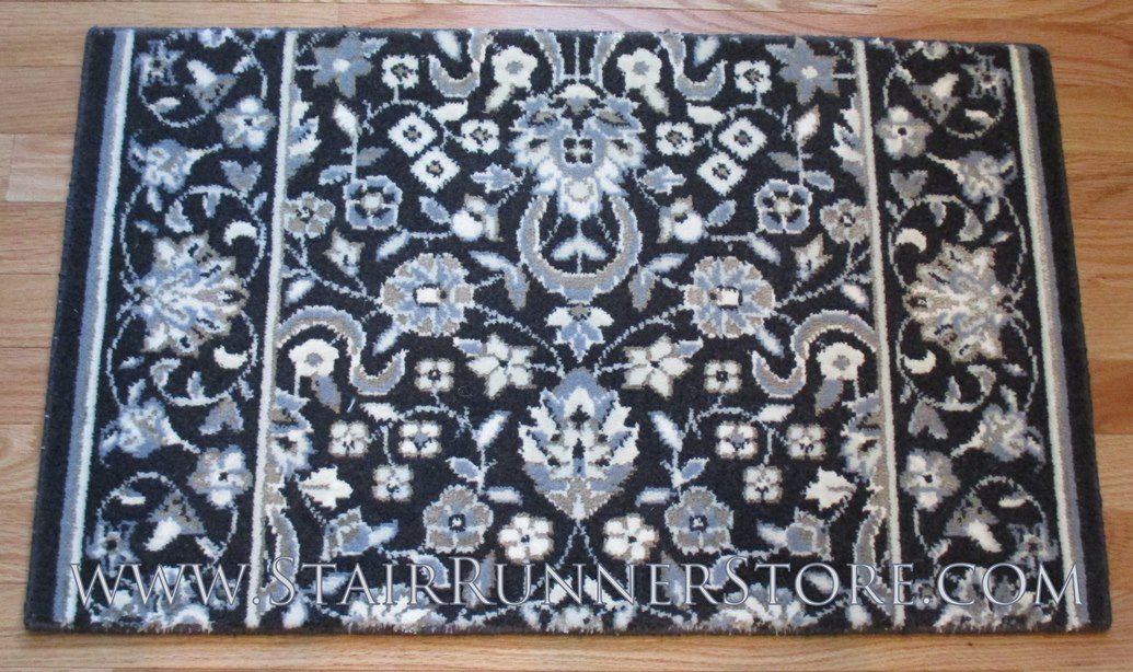 Glamour Kashan Stair Runner Midnight 36""