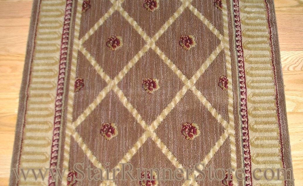 Nourison Ashton Court Stair Runner Amber 36""