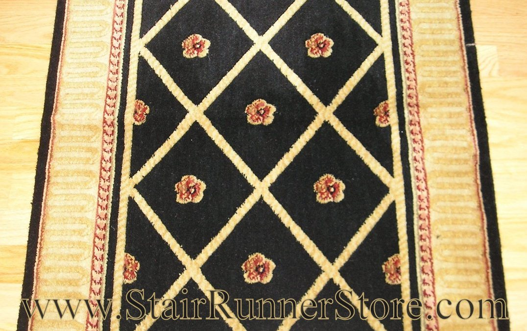 Nourison Ashton Court Stair Runner Black 36""