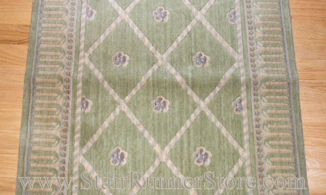 Nourison Ashton Court Stair Runner Kiwi 27""