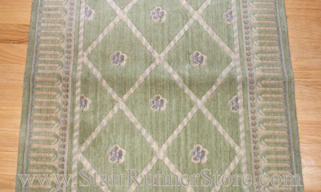 Nourison Ashton Court Stair Runner Kiwi 36""