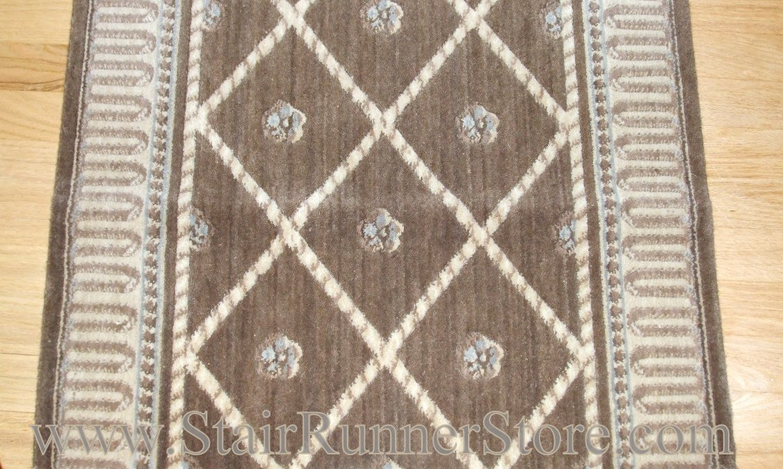 Nourison Ashton Court Stair Runner Mink 36""