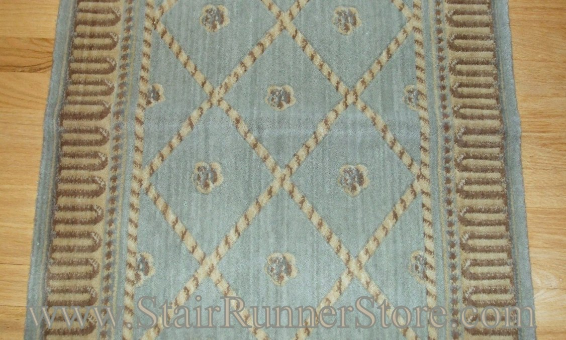 Nourison Ashton Court Stair Runner Surf 27""