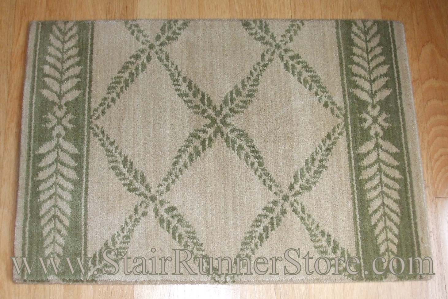 Nourison Chateau Normandy Stair Runner IvoryGreen 27""