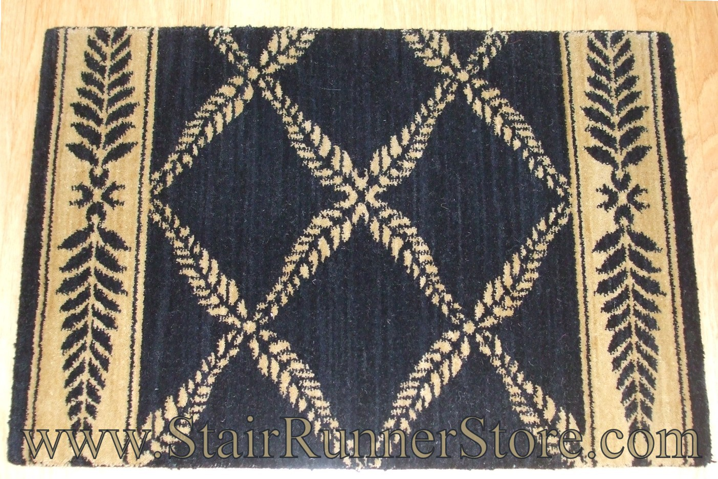 Nourison Chateau Normandy Stair Runner Onyx 36""