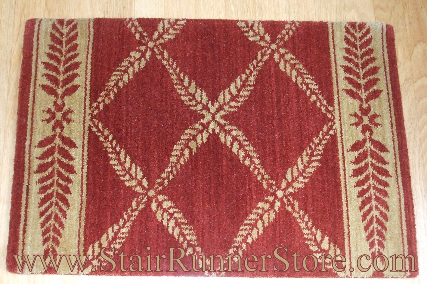 Nourison Chateau Normandy Stair Runner Ruby 27""