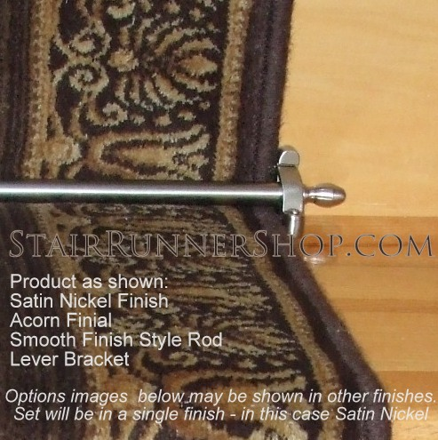 Charmant Satin Nickel Finish Hardware Set: Hall Runners | Stair Runners |  The Stair Runner