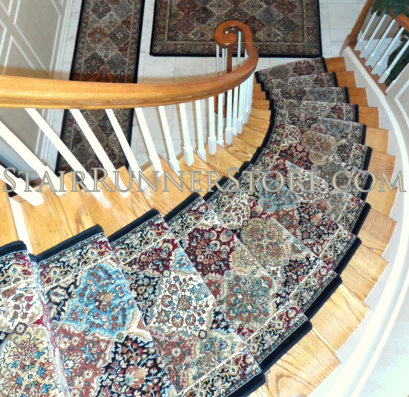 Contemporary Stair Runner Store: Ancient Garden Stair Runner Multi 26 Inch Approx. Width