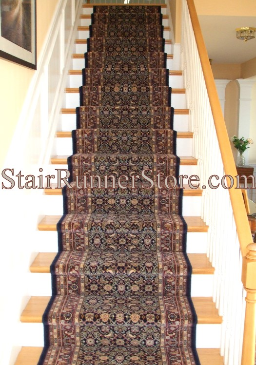 Brilliant Stair Runner 72240 520 Navy 32 Inch Approx