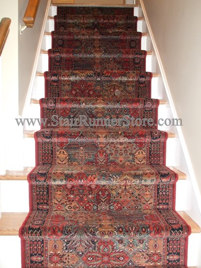 Imperial Baktiari Stair Runner Antiquered 26 Inch Approx