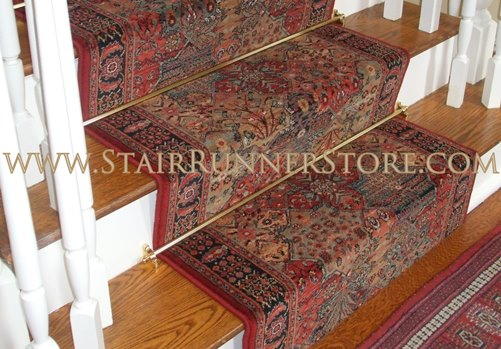 Imperial Baktiari Stair Runner Antiquered 31 Inch Approx
