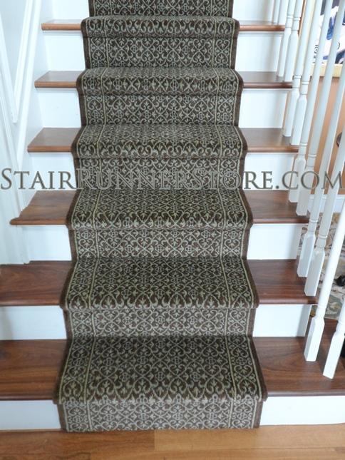 Nourison Riems Runner Brownstone Extra Wide 36 Inch Carpet