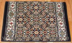 Ancient Garden Stair Runner 57011 Black 26""