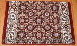 Ancient Garden Stair Runner 57011 Red 26""