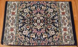 Ancient Garden Stair Runner 57078 Blue 26""