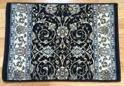 Ancient Garden Stair Runner 57120 Navy 26""