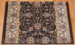 Ancient Garden Stair Runner 57120 Chocolate 31""