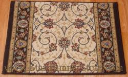 Ancient Garden Stair Runner 57120 Ivory 26""