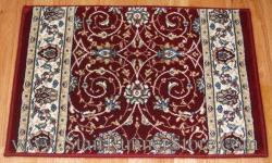 Ancient Garden Stair Runner 57120 Red 26""