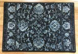 Ancient Garden Stair Runner 57126 Charcoal Silver 26""