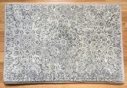 Ancient Garden Stair Runner 57162 SilverGrey 26""