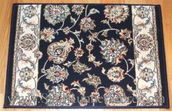 Ancient Garden Stair Runner 57365 Navy Blue 26""