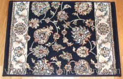 Ancient Garden Stair Runner 57365 Navy Blue 31""