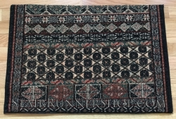 Antique Turkoman Ebony Stair Runner 26