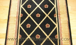 Ashton Court Stair Runner Black 27""