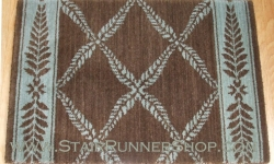 Chateau Normandy Stair Runner BrownGreen 27""