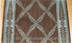 Chateau Normandy Stair Runner BrownGreen 36""