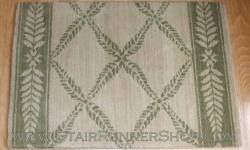 Chateau Normandy Stair Runner IvoryGreen 27""