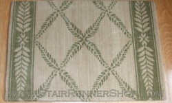 Chateau Normandy Stair Runner IvoryGreen 36""