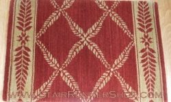 Chateau Normandy Stair Runner Ruby 27""