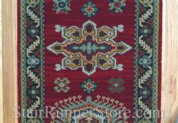 Emir Red 10521 Stair Runner 22 Inch